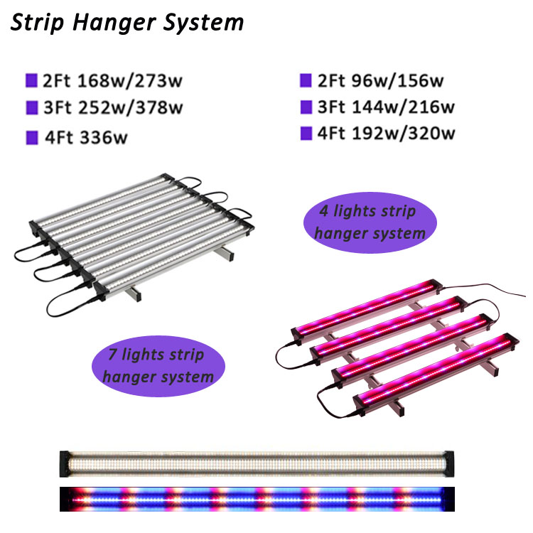 hydroponics vertical farm full spectrum high power led strips plant indoor grow light systems